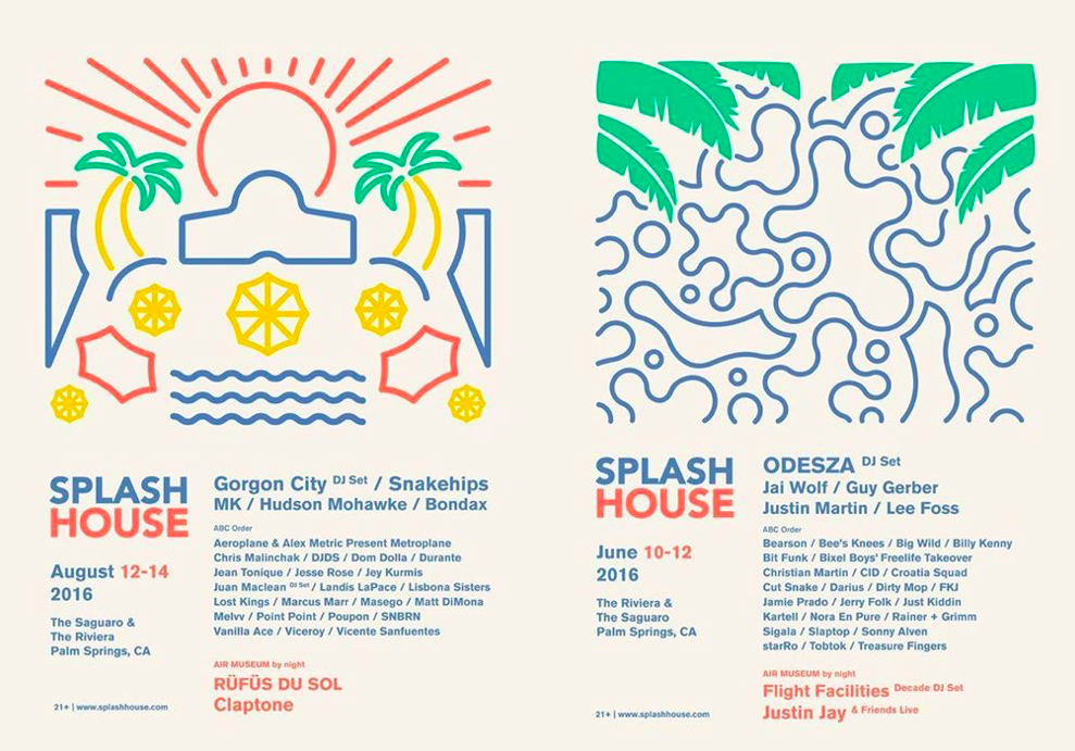 [CONCERT PREVIEW] SPLASH HOUSE Palm Springs 2016